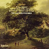 Weber: Piano Quartet, etc / Gaudier Ensemble