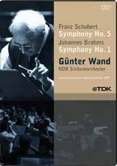 Gunter Wand conducts Brahms: Sym. No. 1 & Schubert: Sym. No. 5 (live, 1997) [DVD]