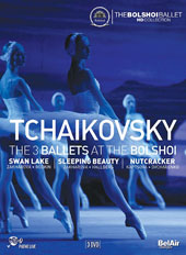 Tchaikovsky: The 3 Ballets at the Bolshoi - Swan Lake (Yuri Grigorovich); The Sleeping Beauty (Marius Petipa); The Nutcracker (Yuri Grigorovich) / Bolshoi theatre Ballet & Orchestra [3 DVD]