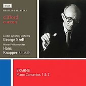 Heritage Masters - Brahms: Piano Concertos no 1 & 2 / Curzon, Szell, Knappertsbusch, et al