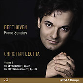 Beethoven: Piano Sonatas Vol 2 / Christian Leotta