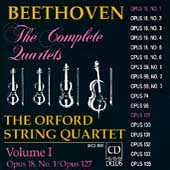 Beethoven: The Complete Quartets Vol I / Orford Quartet