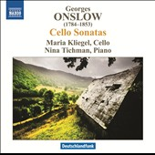Georges Onslow: Sonatas for cello & piano nos 1-3 / Maria Kliegel, cello; Nina Tichman, piano