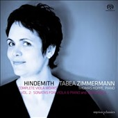 Hindemith: Complete Viola Works, Vol. 2 - Sonatas for Viola & Piano and Solo Viola / Tabea Zimmermann, viola; Thomas Hoppe, piano