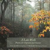 Late Walk: Poems for Soprano And Guitar