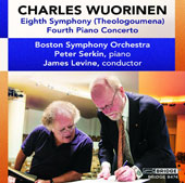 Charles Wuorinen (b.1938): Eighth Symphony (Theologoumena); Fourth Piano Concerto / Boston SO, James Levine