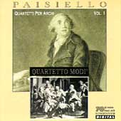 Paisiello: Quartetti Per Archi Vol 1 / Quartetto Modi