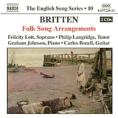Britten: Folk Song Arrangements / Lott, Langridge, Johnson