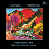 Beethoven: Cello Sonata Op 69;  Rachmaninov: Cello Sonata Op 19 / Khoma, Vynnytsky