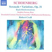 Schoenberg: Serenade, Variations, Bach Orchestrations / Robert Craft