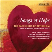 Songs of Hope / Works by JS Bach, Britten, Bernstein & Paulus
