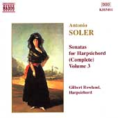 Soler: Sonatas for Harpsichord Vol 3 / Gilbert Rowland