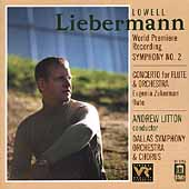 Liebermann: Symphony no 2, Flute Concerto / Litton, et al
