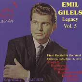 Legendary Treasures - Emil Gilels Legacy Vol 5