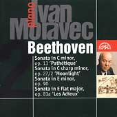 Beethoven: Piano Sonatas Op 13, 27/2, 90, 81a / Ivan Moravec