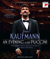 Jonas Kaufmann - 'An Evening with Puccini', A gala performance live from La Scala, plus an introduction to Puccini with rare archival footage, narrated by Kaufmann [Blu-ray]