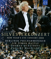 Silvesterkonzert Gala from Berlin, New Year's Eve Concert 2008; Works by Adams, Barber, Copland, Gershwin, Kern, Sousa / Thomas Quasthoff, baritone; Pauline Malefane, soprano; Sir Simon Rattle, Berlin Philharmonic Orchestra [Blu Ray Video]