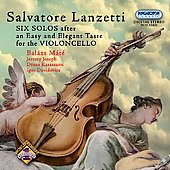 Salvatore Lanzetti: Six Solos for Cello / Máté, Karasszon