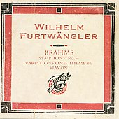 Brahms: Symphony no 4, etc / Furtw&auml;ngler, Berlin PO