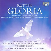Rutter: Gloria;  Bernstein: Chichester Psalms;  Poulenc / Timothy Brown, et al