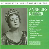 Documents of a singing career: Annelies Kupper