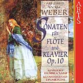 Weber: Sonatas for Flute and Piano / Fabbriciani, et al