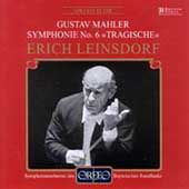 Mahler: Symphony no 6 / Leinsdorf, Bavarian Radio SO