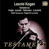 Ysae, Leclair, Telemann, Locatelli: Violin Sonatas / Kogan