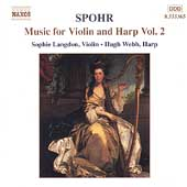 Spohr: Music for Violin and Harp Vol 2 / Langdon, Webb