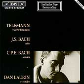 Telemann: Twelve Fantasias;  J.S. Bach, C.P.E. Bach / Laurin