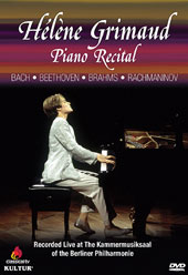 Piano Recital at The Kaamer Musiksaal - Bach: Chaconne in D minor; Beethoven: Sonata no 31; Brahms: Sonata no 3 / Hélène Grimaud, piano [DVD]