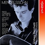 Mendelssohn: Piano Concerto no 1, etc / Bacchetti, Prague CO