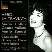 Historical - Verdi: La Traviata / Rescigno, Callas, Valletti, Zanasi, Collier, Roberts, Troy, Robinson, et al
