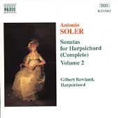 Soler: Sonatas for Harpsichord Vol 2 / Gilbert Rowland