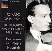 The Historical HMV Recordings 1956 Vol. 2 / Renato De Barbieri, violin; Tullio Macoggi, piano