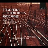 Reich: Different Trains, etc;  Mellits: String Quartet no 2