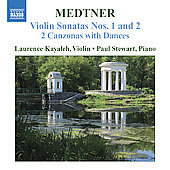 Medtner: Complete Works for Violin and Piano, Vol 2