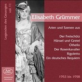 Legenden des Gesanges, Vol. 11: Elisabeth Gr&uuml;mmer
