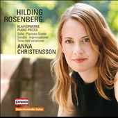 Hilding Rosenberg: Piano Pieces / Anna Christensson, piano