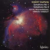 Simpson: Symphonies no 1 & 8 / Handley, Royal Philharmonic