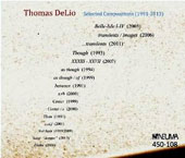 Thomas Delio: Selected Compositions (1991-2013) / Jacques Linder, piano; Jeffrey Gram, percussion
