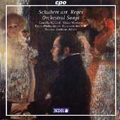 Schubert/Reger: Orchestral Songs / Nyland, Mertens, Albert