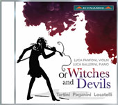Of Witches and Devils - Works by Giuseppe Tartini (1692-1770), Paganini, Pietro Locatelli )1695-1764) / Luca Fanfoni, violin; Luca Ballerini, piano