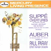 Suppé, Auber: Overtures / Paray, Detroit Symphony