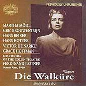 Wagner: Die Walk&uuml;re / Leitner, Beirer, Brouwenstijn, et al