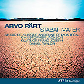 P&auml;rt: Stabat Mater, etc / Daniel Taylor, Christopher Jackson