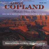 Copland: Works for Piano Duo / Goldina, Loumbrozo