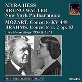 Mozart, Brahms: Piano Concertos / Hess, Walter, NYPO