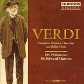 Classics -Verdi: Complete Preludes, Overtures & Ballet Music