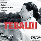 Puccini, Catalani, Verdi, Giordano, Boito: Operas / Tebaldi